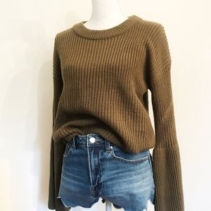 NEW Sophie Rue Green Oversized Chunky Knit Sweater